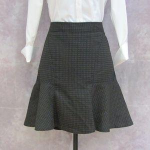 Worthington Black & Brown Skater Style Skirt Sz 8